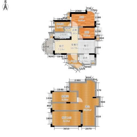 碧桂园十里金滩2室1厅1卫1厨91.00㎡户型图