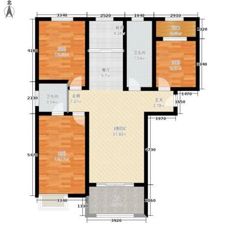壹城公馆3室0厅2卫1厨110.00㎡户型图