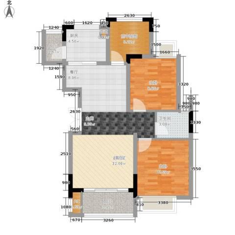 华地御临江山2室0厅1卫1厨96.00㎡户型图