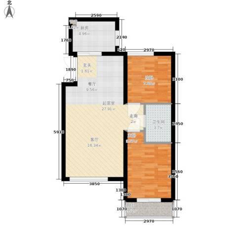 新加坡城2室0厅1卫1厨81.00㎡户型图