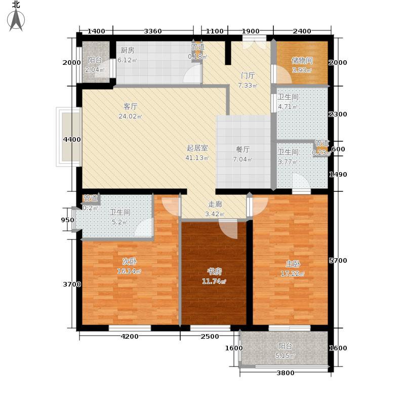 银领国际162.00㎡533号楼05面积16200m户型
