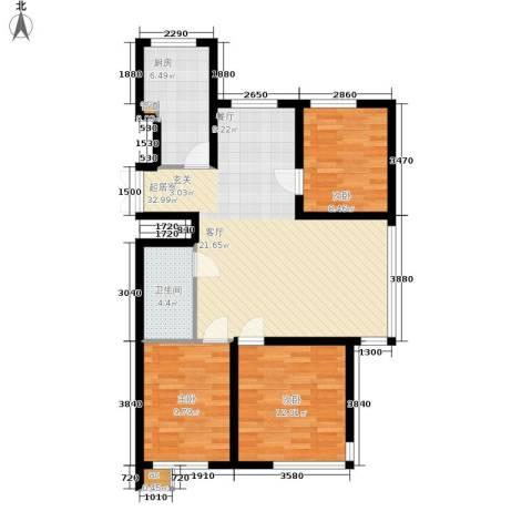 新加坡城3室0厅1卫1厨106.00㎡户型图