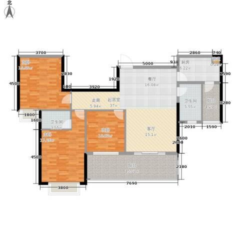 御水湾3室0厅2卫1厨137.00㎡户型图