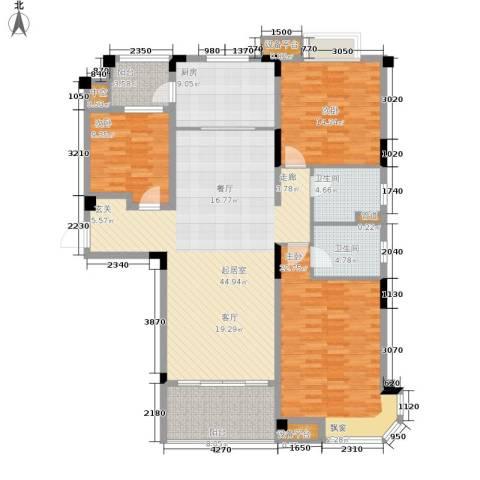 南通碧桂园3室0厅2卫1厨133.00㎡户型图