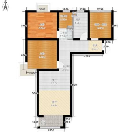 香城俪景二期2室0厅1卫1厨82.00㎡户型图