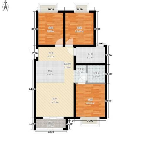 香城俪景二期3室0厅1卫1厨111.00㎡户型图