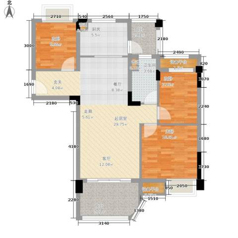 南通碧桂园3室0厅1卫1厨90.00㎡户型图