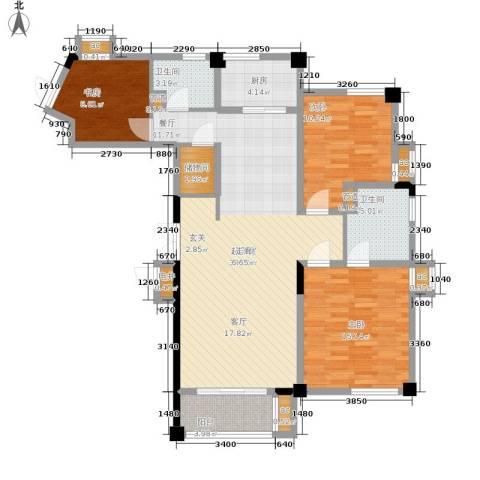 水木清华3室0厅2卫1厨135.00㎡户型图