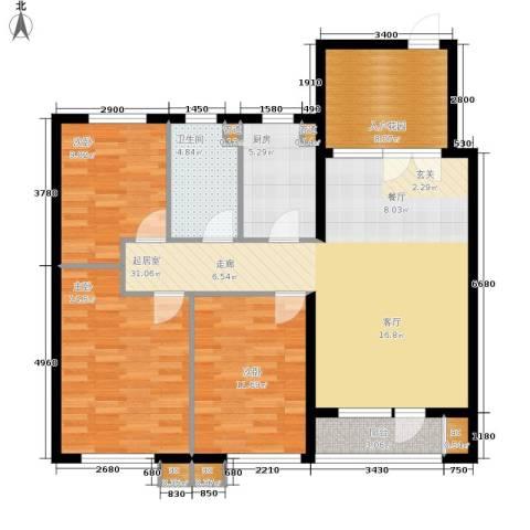 新加坡城3室0厅1卫1厨126.00㎡户型图