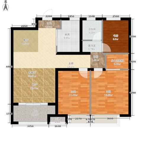 朝阳首府3室1厅1卫1厨96.00㎡户型图