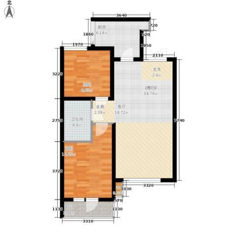 新加坡城2室0厅1卫1厨92.00㎡户型图