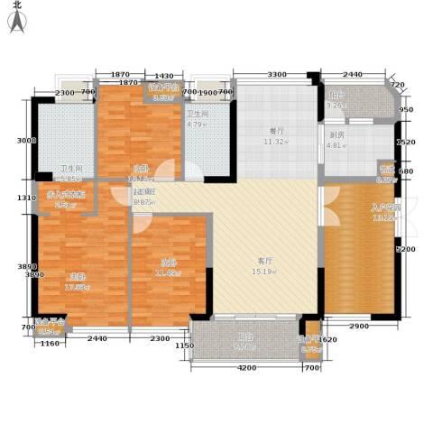 裕龙君汇3室0厅2卫1厨137.00㎡户型图