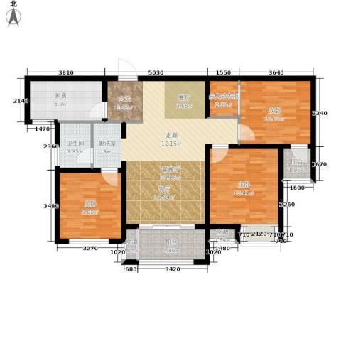 朝阳首府3室1厅1卫1厨101.00㎡户型图