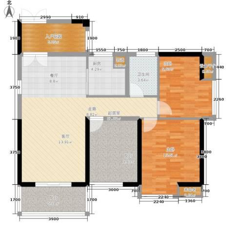 裕龙君汇2室0厅1卫1厨103.00㎡户型图
