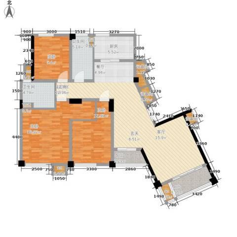 水木清华3室0厅2卫1厨154.00㎡户型图