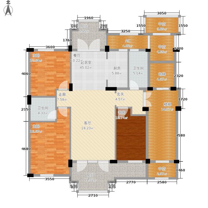 翡翠城133.00㎡印月苑A户型3室2厅