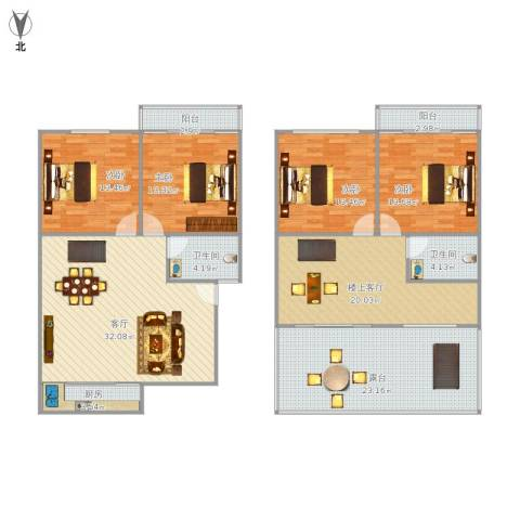 永升松柏中心4室1厅2卫1厨157.23㎡户型图