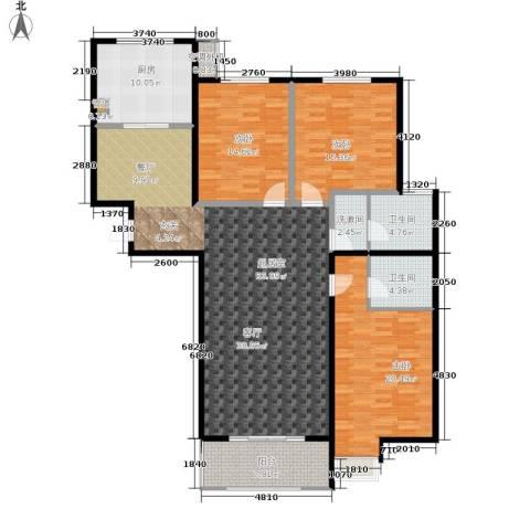 水韵江南3室0厅2卫1厨147.00㎡户型图