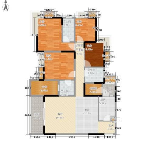 御景天成4室0厅3卫1厨127.00㎡户型图