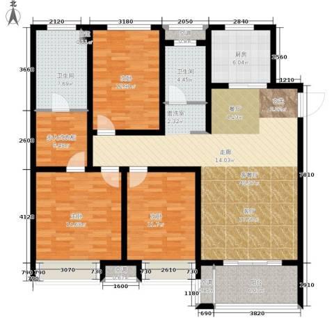 朝阳首府3室1厅2卫1厨129.00㎡户型图