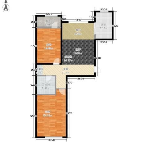 伟业英伦尚城2室0厅1卫1厨119.00㎡户型图