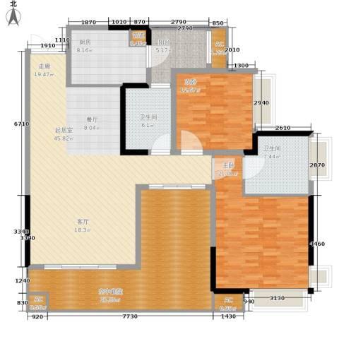 重百小区2室0厅2卫1厨154.00㎡户型图