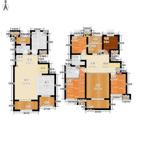 万科城4室0厅3卫1厨171.71㎡户型图