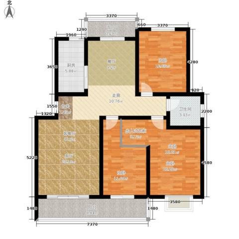 富馨苑3室1厅1卫1厨120.00㎡户型图