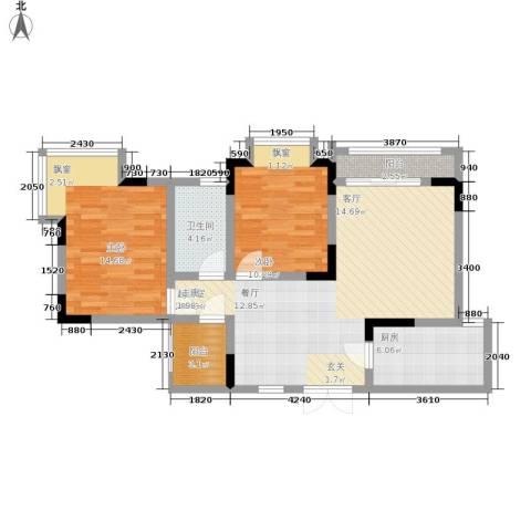 枫桥水郡2室0厅1卫1厨87.00㎡户型图