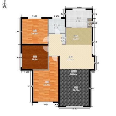 伟业英伦尚城3室0厅1卫1厨160.00㎡户型图