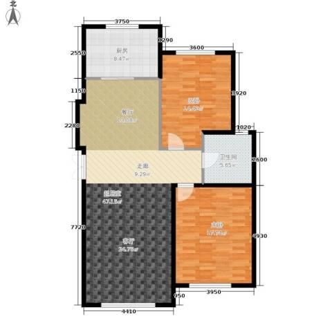 伟业英伦尚城2室0厅1卫1厨127.00㎡户型图
