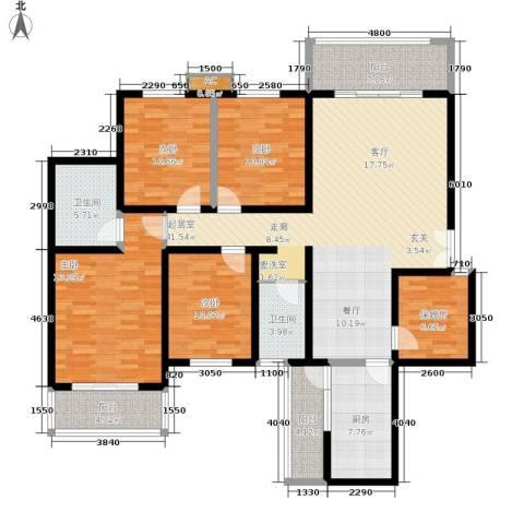 重百小区4室0厅2卫1厨260.00㎡户型图