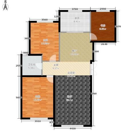 伟业英伦尚城3室0厅1卫1厨141.00㎡户型图
