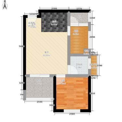 学林佳苑1室0厅1卫1厨41.00㎡户型图