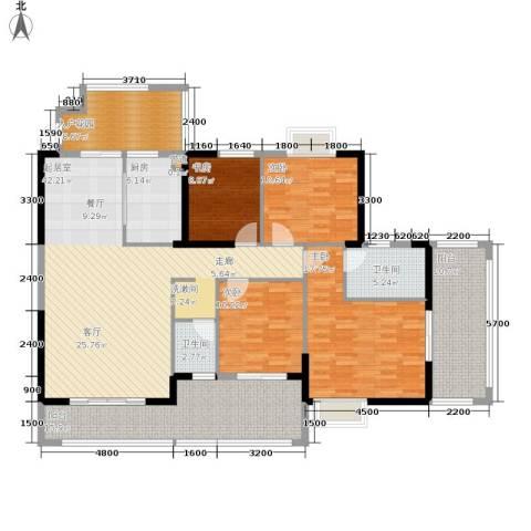 中旗哈佛中心4室0厅2卫1厨170.00㎡户型图