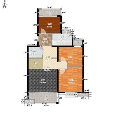 凤凰国际城3室0厅1卫1厨93.00㎡户型图