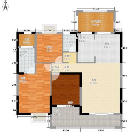 中旗哈佛中心3室0厅2卫0厨137.00㎡户型图