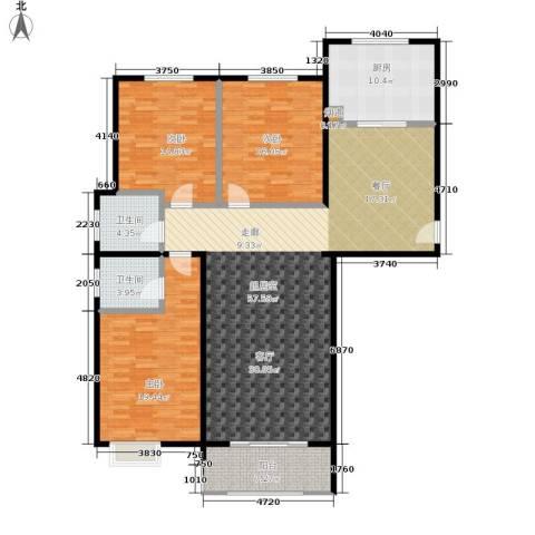 水韵江南3室0厅2卫1厨148.00㎡户型图