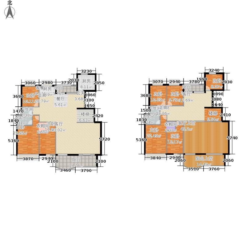 鸿大城348.14㎡二期16栋1-A复式户型