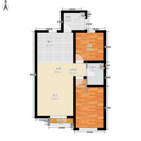 秋实春华2室0厅1卫1厨88.00㎡户型图