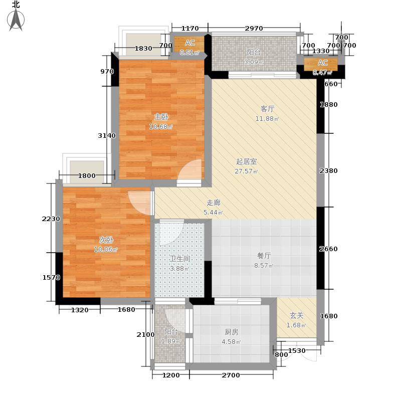 海尔海语江山63.57㎡一期11号楼面积6357m户型