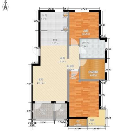 泰达汉郡2室0厅1卫1厨101.00㎡户型图