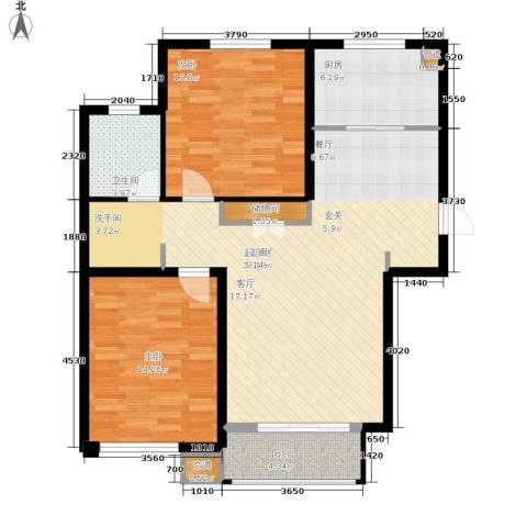 泰达汉郡2室0厅1卫1厨91.00㎡户型图