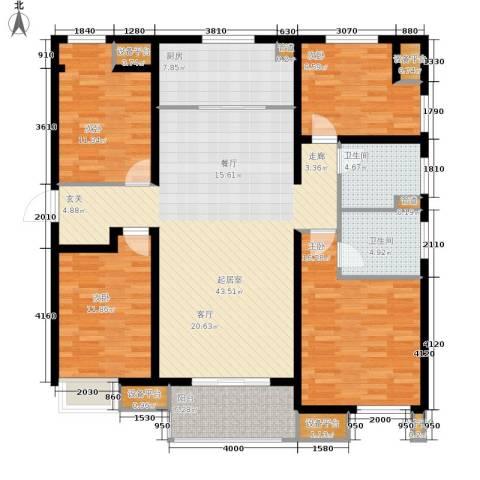 万科城4室0厅2卫1厨137.00㎡户型图