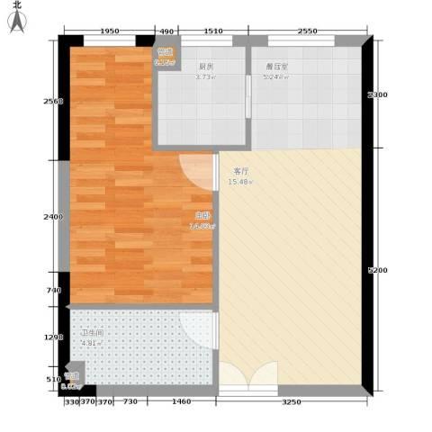 祈年悦城1室0厅1卫1厨49.00㎡户型图
