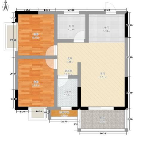 乔鹤西苑2室0厅1卫1厨78.00㎡户型图