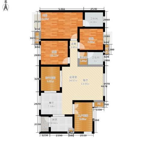 西城景秀3室0厅2卫1厨119.79㎡户型图