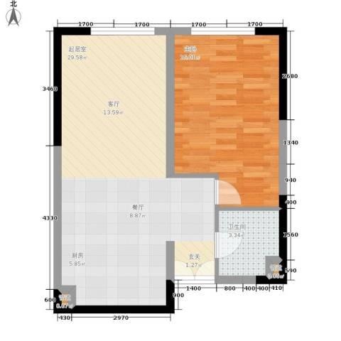 祈年悦城1室0厅1卫0厨54.00㎡户型图