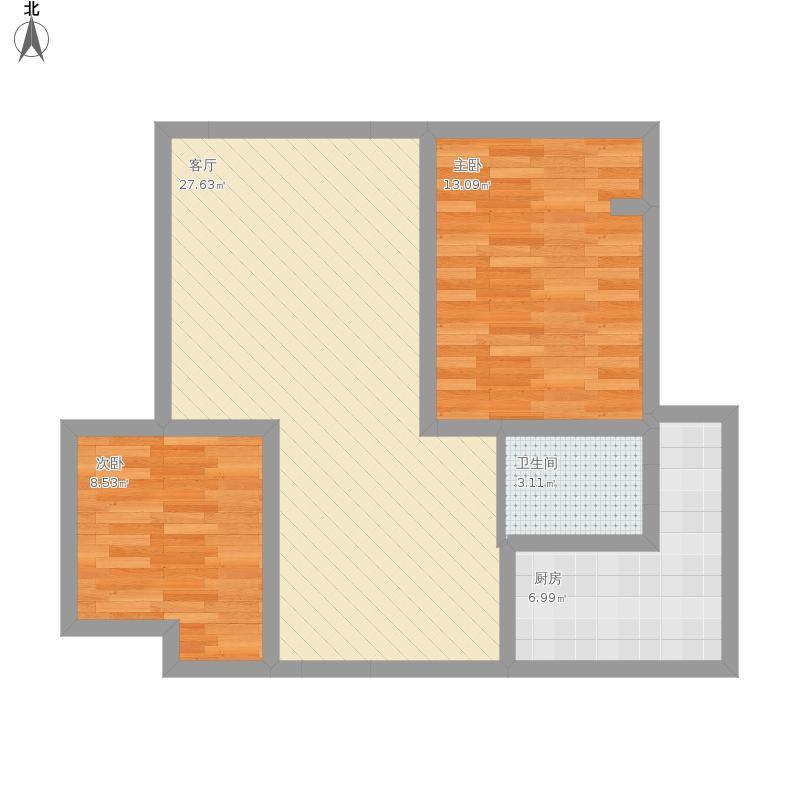御景华庭两室两厅一厨一卫
