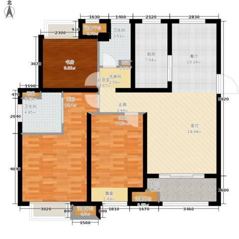 万科城3室0厅2卫1厨115.00㎡户型图